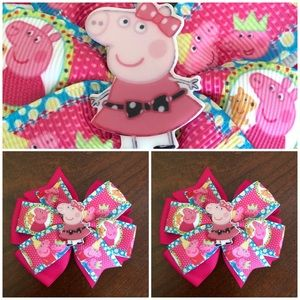 Peppa Pig Pigtails Bow